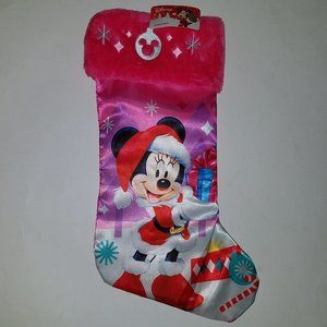 NEW Disney Minnie Mouse PInk Christmas Stocking
